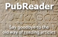 PubReader: Say goodbye to the old way of reading articles.